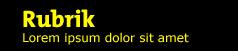 Webbplatsinställning 2: Gul text på svart bakgrund