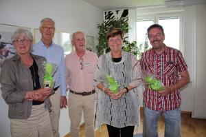 Marianne Skinnars Bruno, ordförande Actíva, Staffan Fors, fd ordförande, Örjan Samuelsson, verksamhetschef, Agneta Stål, tidigare verksamhetschef samt Lars Rickardt, projektledare på Activa.