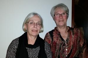 Birgitta Blumenau och Birgitta Karlsson, två glad blivande pensionärer