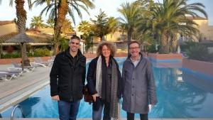 Perpignan, arbetsplatsbesök på Hotel Malibu