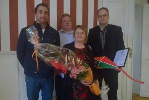 Från vänster: Jimmy Larsson, Simon Westerholm, Ulrika Ahlström och Björn Persson
