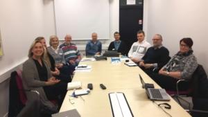 Skolpersonal, kommunanställda och projektmedarbetare i Lärling/Jobb i sikte planerar inför starten av utbildning